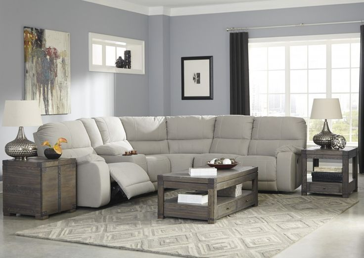 Get Your Bohannon   Putty   3 Pc Reclining Power RAF Loveseat Sectional At  Railway Freight Furniture, Albany GA Furniture Store.