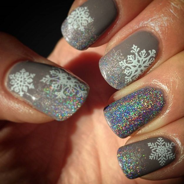 Snowflake nail art is indeed a staple when we talk about holiday nail  designs. There's something magical and dreamy about snowflakes so it's  really no ... - Best 25+ Snowflake Nails Ideas On Pinterest Snowflake Nail Art