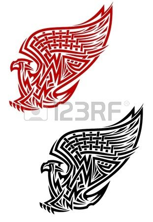 Griffin symbol in celtic style for tattoo or heraldry design Stock Vector