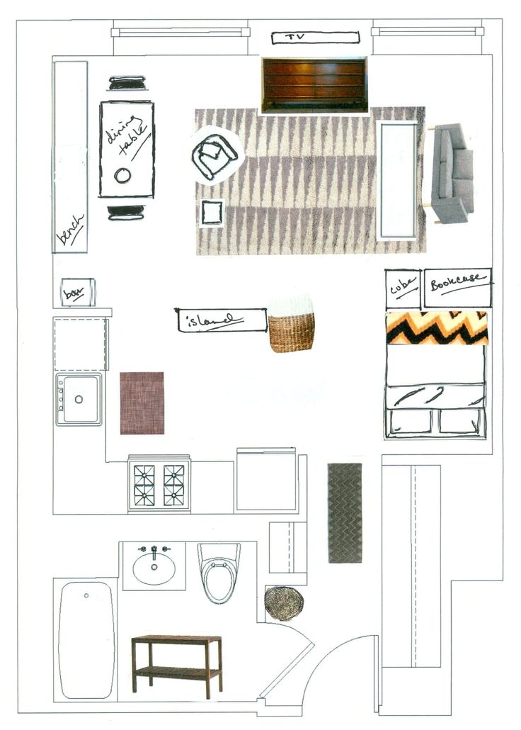Best 25+ Apartment layout ideas on Pinterest | Studio apartment layout,  Small apartment layout and Studio apartment bed