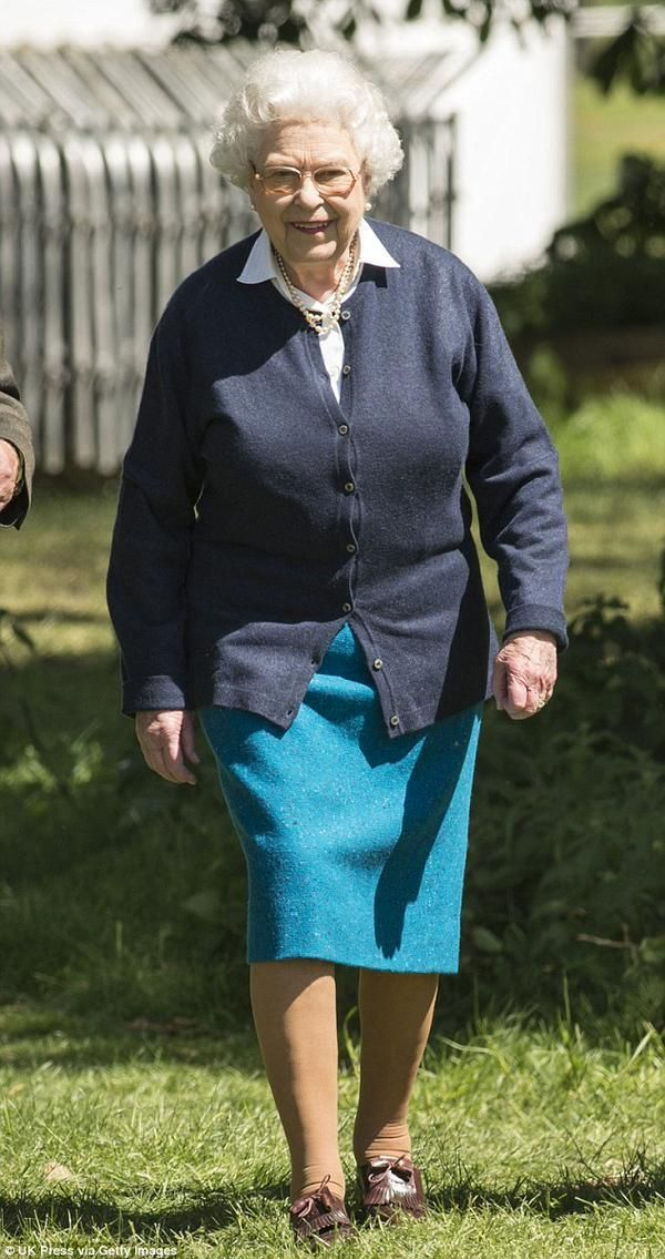Queen Elizabeth II, off duty.Photo taken on 13 May 2015 at the Royal Windsor Horse Show.