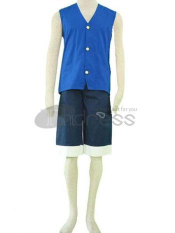 one piece luffy green cosplay costumes. blue as the color of sea.