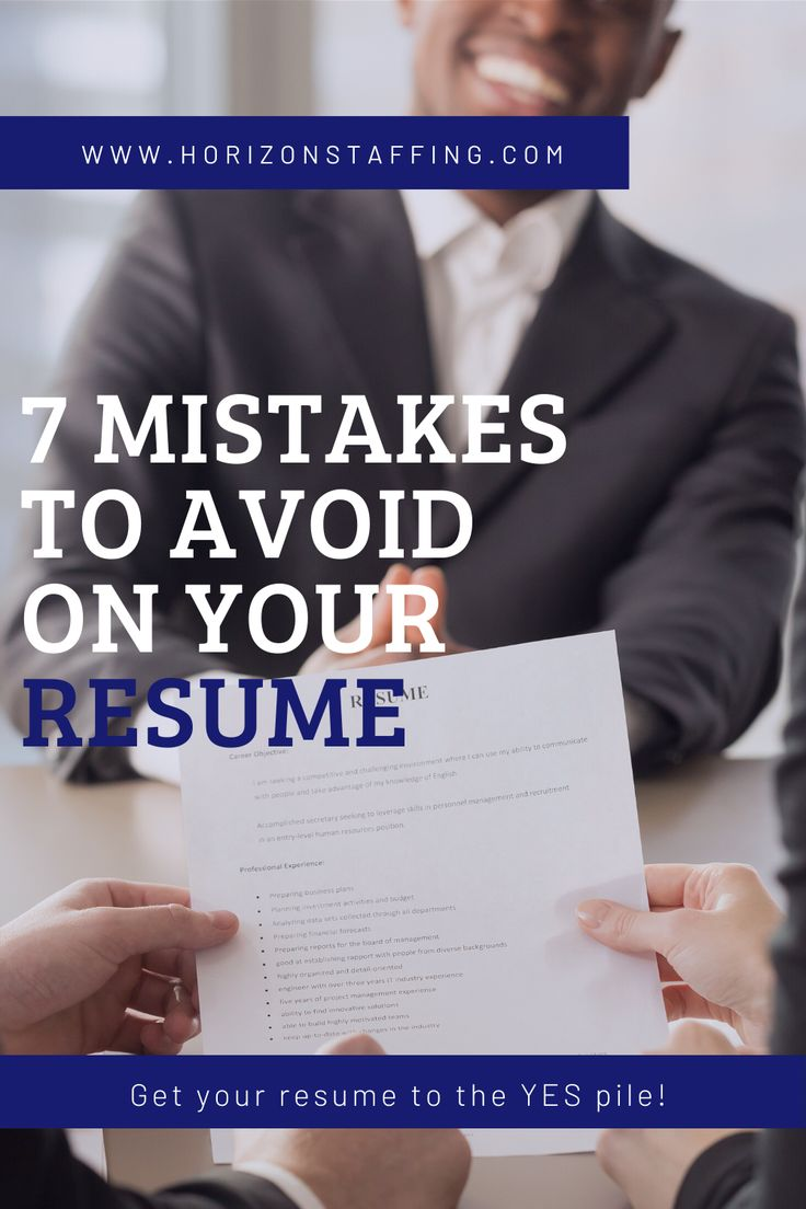Check your resume for these 7 mistakes! in 2020 Resume