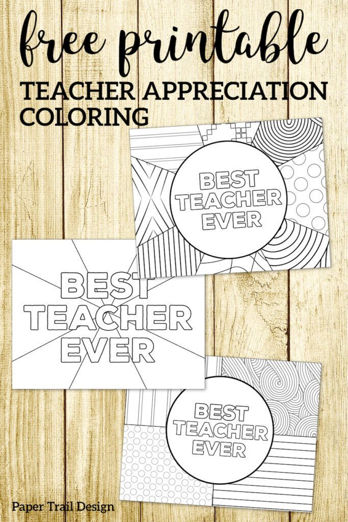 graphic relating to Free Printable Teacher Appreciation Cards to Color called Trainer Appreciation Coloring Internet pages No cost Printables towards