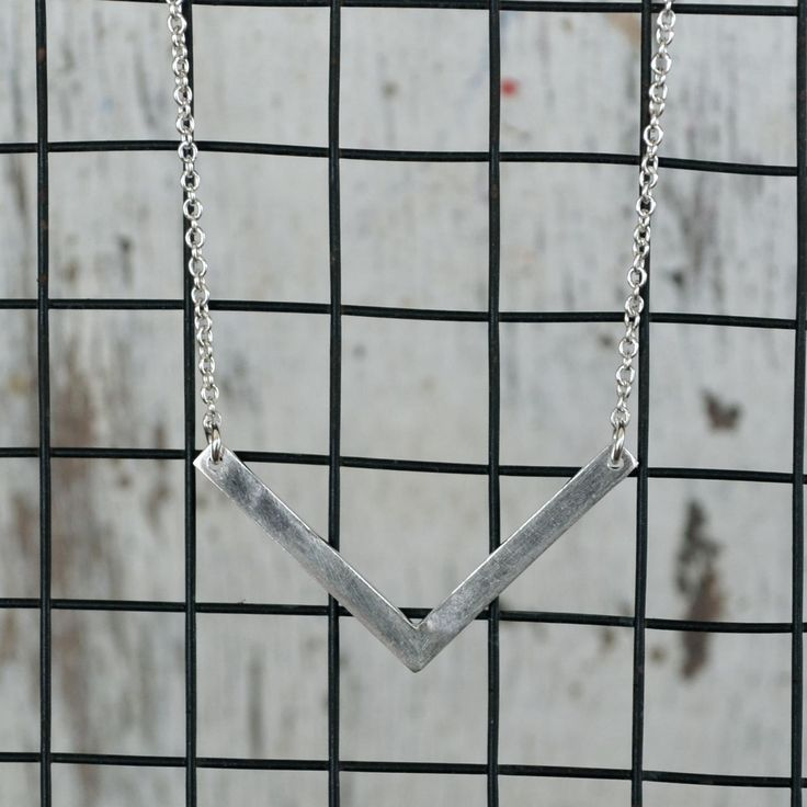 Love Winter Jewellery - Geometric V Necklaces. Support local businesses!