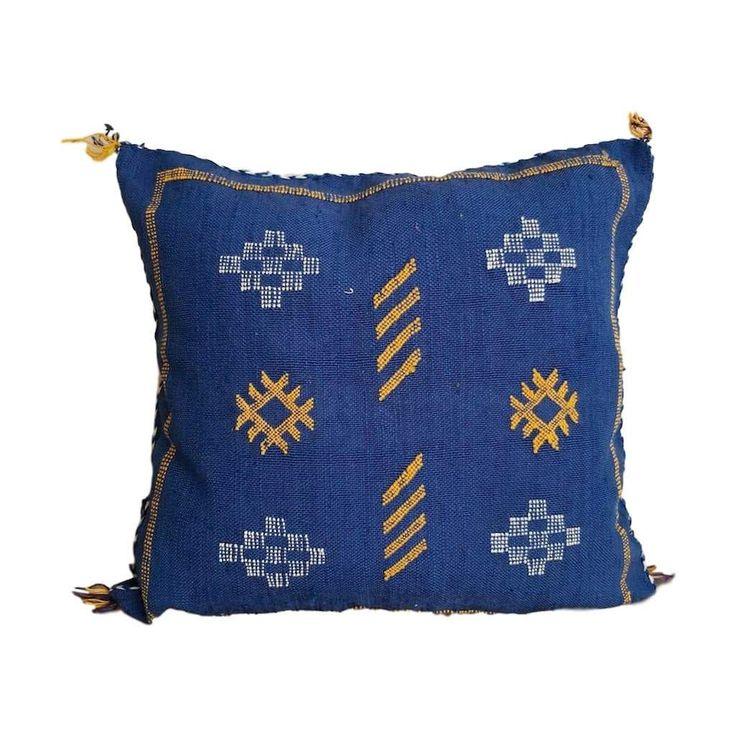 NAVY BLUE  MORROCAN SABRA Pillow
