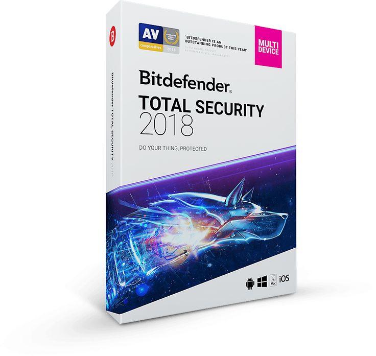 Bitdefender Total Security 2018 - Anti Malware Software