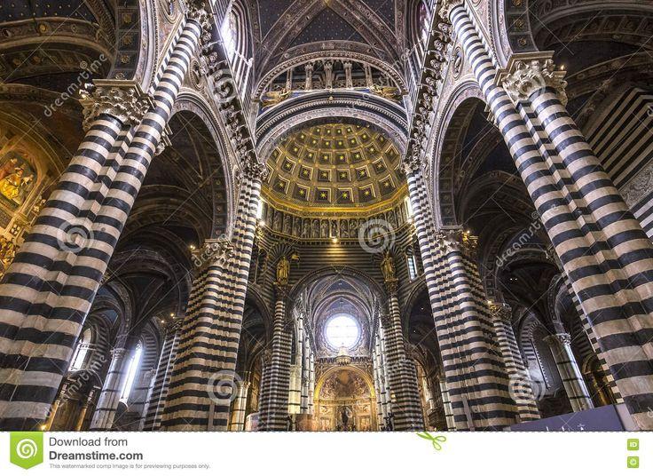 Znalezione obrazy dla zapytania siena katedra wnętrze