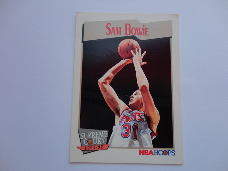 Sam Bowie NBA Hoops Supreme Court 1991-92 Basketball Collection Cards.