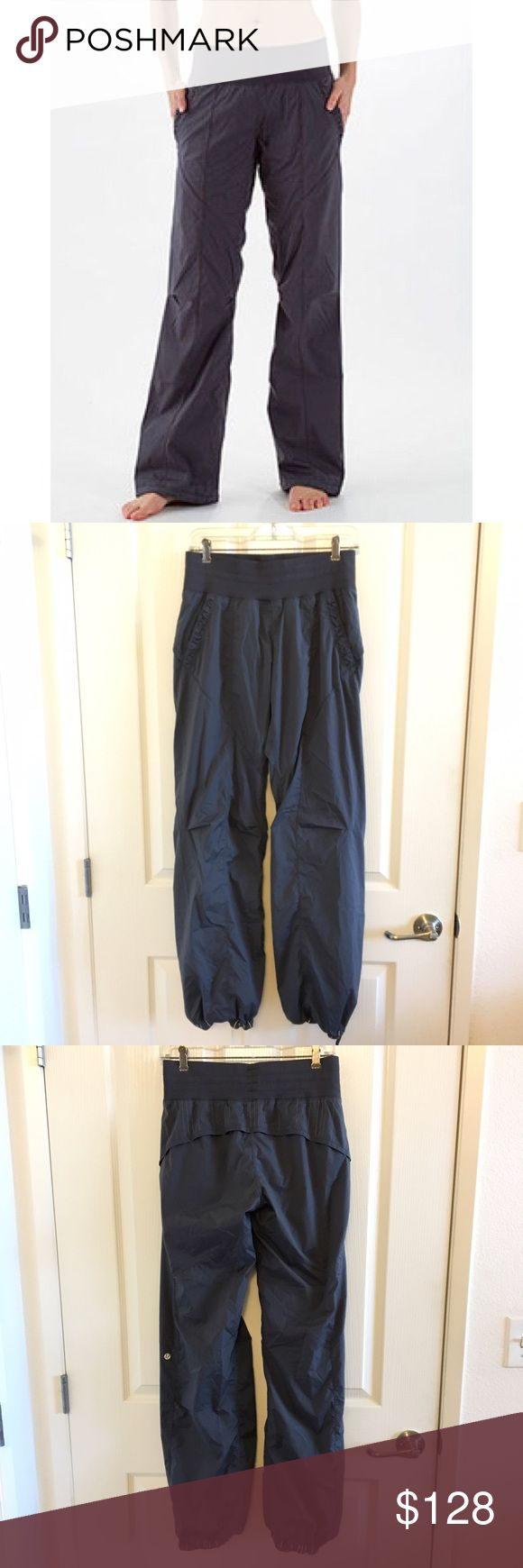 Final Price!! Lululemon hustle (dance studio) Lululemon hustle pants size 6 in coal (very similar to dance studio pants but slightly room here) bottom reflective drawstrings, reflective stripes along lower back, pockets) these pants are also lined on the inside somewhere to the lined dance your pants. Super comfortable! lululemon athletica Pants