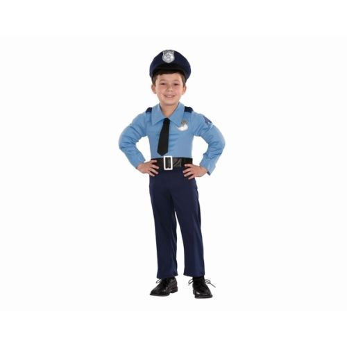 Totally Ghoul Boys Muscle Police Halloween Costume Jumpsuit & Hat 12-18…