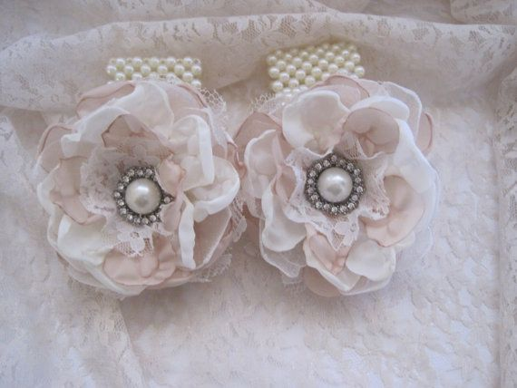 Wrist Corsage Ivory and Champagne 3 1/2 Romantic by theraggedyrose, $28.95