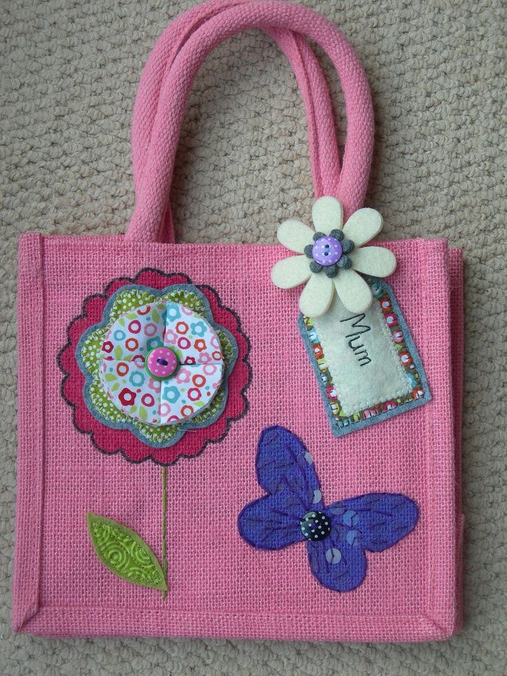 Hand decorated jute bags! www.jennyeddendesigns.co.uk
