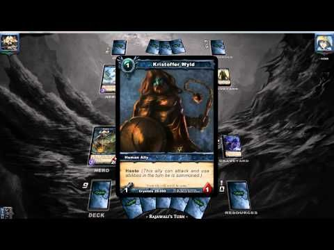 Shadow Era trading card game battle - Eldwan (Rajawali) vs BB (TJ segalion) - YouTube