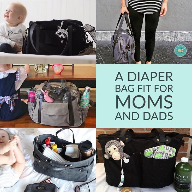 """""""Amazing diaper bags! I personally have one and love how much they can hold! Dads don't mind…"""""""