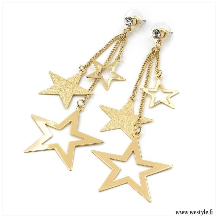Back in stock! These popular earrings 'Golden Stars' are really hot right now.