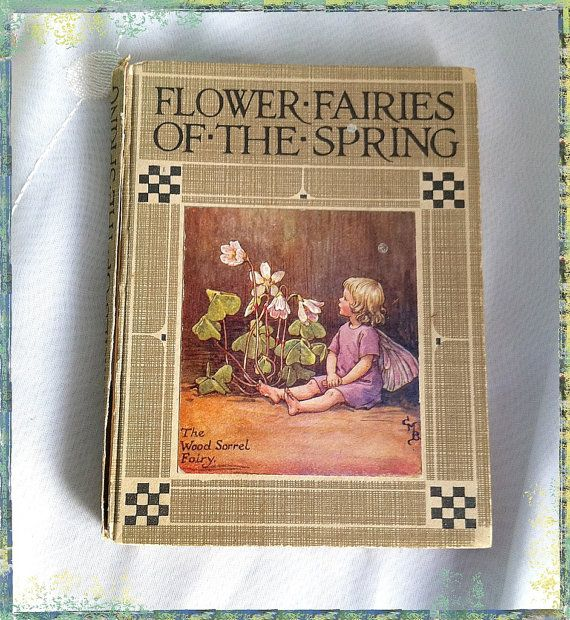 Easter & Spring - ATCTTeam - Early Edition  Flower Fairies of The Spring by Cecily Mary Barker - Sm HB Book - 1930s to 1940s by TeaJay, Vintage  Book  Flower  Fairies  Poems  Cecily Mary Barker  Picture  Book  1930s  1940s  UK  Collectors  Square Early Edition  ATCTteam