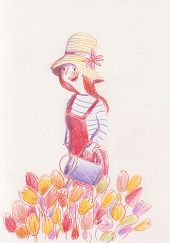 Garden love.. feel like spring Ania Simeone's illustration
