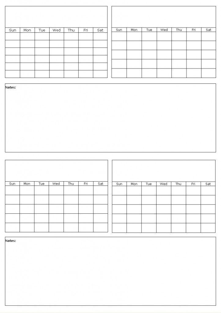 blank fill in calendar