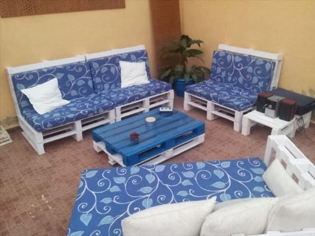 Muebles con palets.