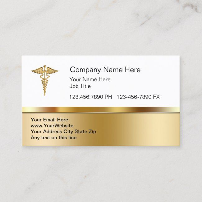 Classy Medical Business Cards Zazzle Com In 2020 Professional