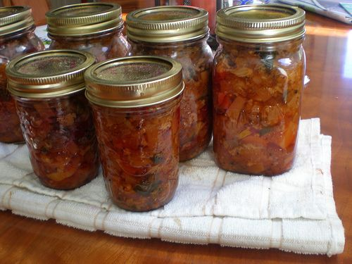 The preserved Cottage Garden Pickle based on the recipe for Branston Pickle