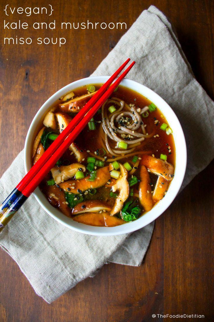 Kale and Mushroom Miso Soup