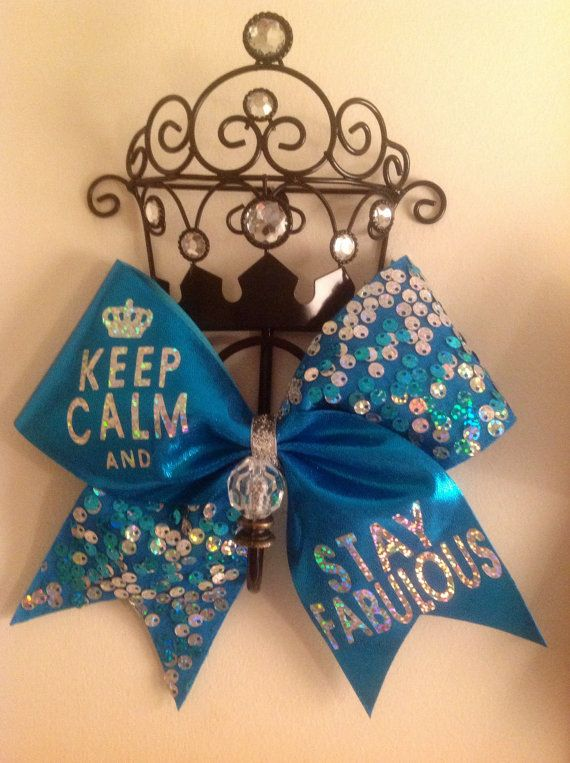 Keep Calm And...cheer bow dance bow gymnast bow. You choose the phrase!