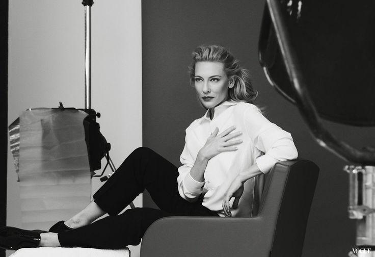 Cate Blanchett, behind-the-scenes for Giorgio Armani 'Si' Fragrance Campaign.