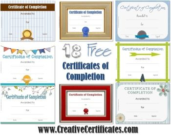 Best 25 certificate of completion template ideas on pinterest a selection of free printable certificate templates instant download yelopaper Image collections