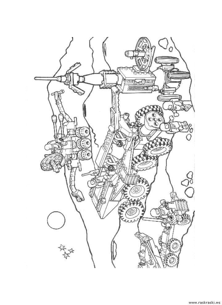 Раскраска Космическая станция Лего - скачать бесплатно