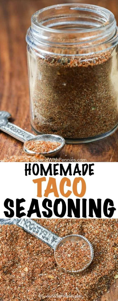 This easy Homemade Taco Seasoning recipe is the perfect way to spice up your chicken or beef! #TacoSeasoning #Spice #EasyRecipe #Homemade
