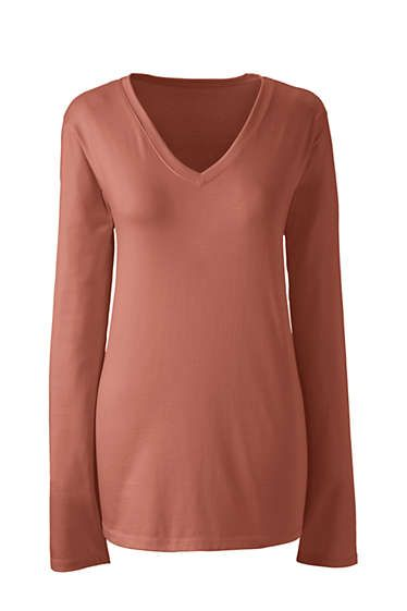 704d46f98c2be Women s Supima Cotton Long Sleeve T-shirt - Relaxed V-neck