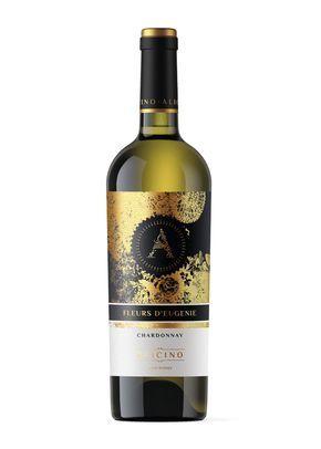 Diseño Etiqueta Vino Fleurs D'Eugenie · Alicino Creamos para la Azienda Agrícola Alicino la imagen del nuevo vino Blanco Chardonnay Fleurs D'Eugenie. Para el diseño de la etiqueta nos basamos en la creación de una ilustración, resaltando el conjunto con un stamping en oro.