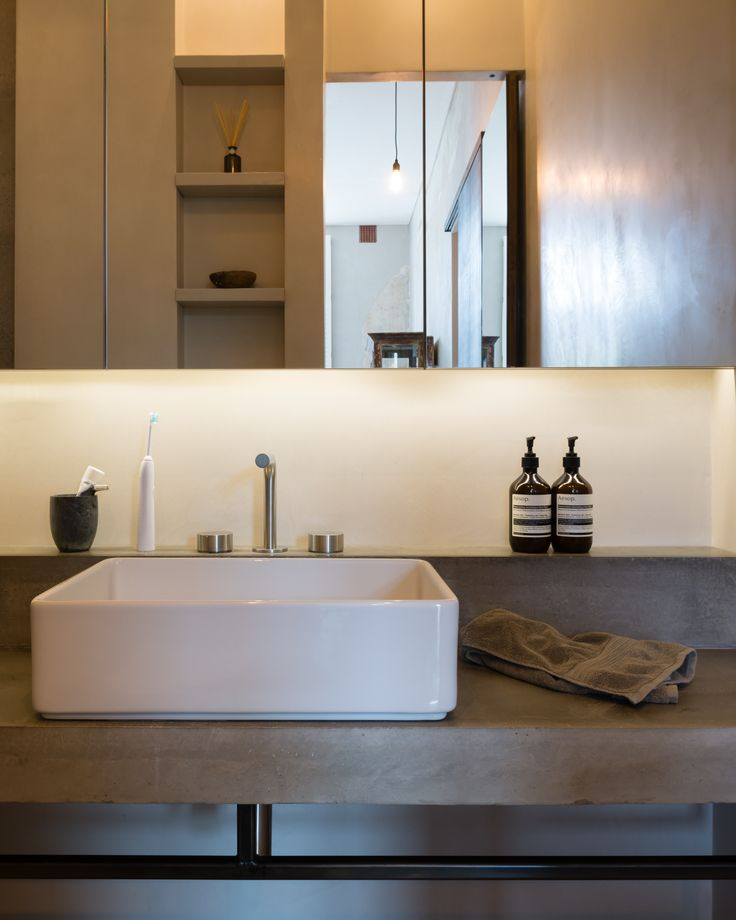 Refurbishment of terraced home in Belsize Park, London. Bathroom. Interior Design. Photographer - Jim Stephenson. Contractor - Mallett Construction.
