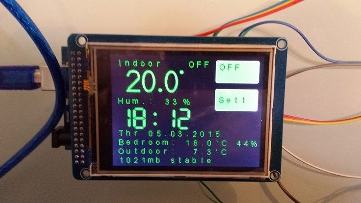 Build yourself a WiFi touch screen thermostat with the Arduino Mega  http://www.instructables.com/id/ESP8266-WiFi-touch-screen-thermostat/