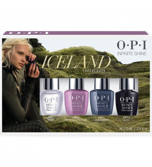 Iceland Infinite Shine Mini 4 Pack  - Iceland Nail Polish - Nail Polish Collections - Nail Polish Colours  | OPI UK