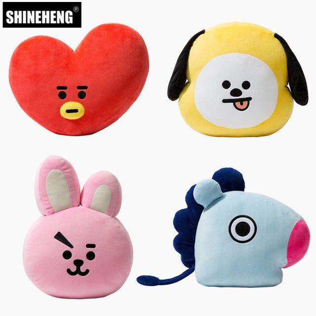 Kpop Hot Sale BTS Kim Tae Hyung V Jung Kook Army Logo Pillow Doll Plush Be