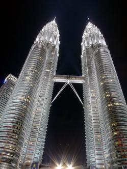 edificios modernos moderna malasia tailandia maravilla rascacielos malla metalica fotos hd alto