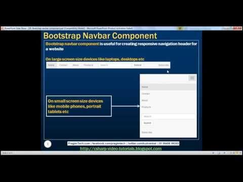 Bootstrap navbar component Part 27