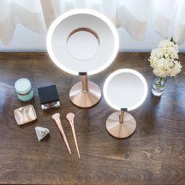 Sensor Pro Kosmetikspiegel mit zusätzlichem Vergrösserer in rose gold