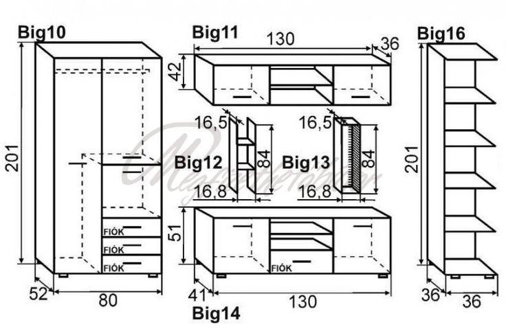 Big-Smart szekrénysor 246 cm - 64,580Ft : Bútor országos házhozszállítással - Megfizethetőbútor