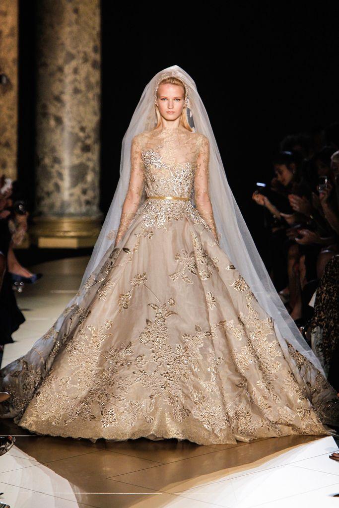 Brides: PHOTO: Sean Parker's Wife, Alexandra Lenas', Stunning Elie Saab Courture Wedding Dress