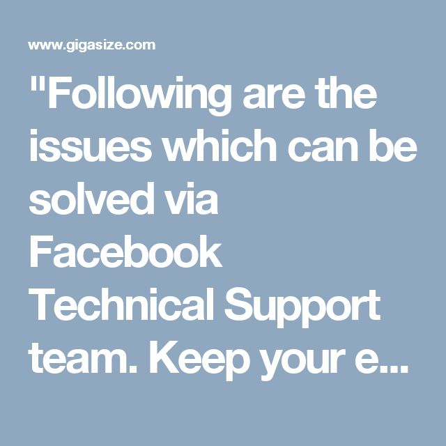 """""""Following are the issues which can be solved via Facebook Technical Support team. Keep your eyes feast on the following points. • Issues related to your Facebook account setting • Issues related to uploading the status or profile picture • Issues regarding hackers So, you can come to us by placing a call on our toll free number 1-850-316-4897. For more Detail visit our site http://www.monktech.net/facebook-technical-support-number.html """""""
