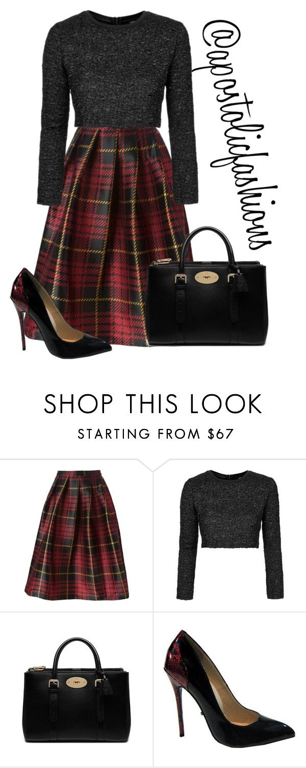 """""""Apostolic Fashions #1342"""" by apostolicfashions on Polyvore featuring Sofie D'hoore, Topshop, Mulberry and The Highest Heel"""