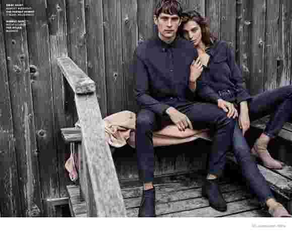 Джинсовая история: Дарья Вербова в рекламной кампании AG Jeans осень-зима 2014/2015