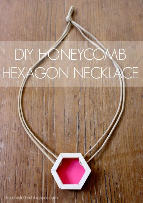"""That's My Letter: """"H"""" is for Honeycomb Hexagon Necklace & @Rockwell Tools giveaway"""