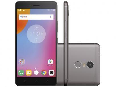 Smartphone Lenovo Vibe K6 Plus 32GB Grafite - Dual Chip 4G Câm. 16MP + Selfie 8MP Tela 5.5