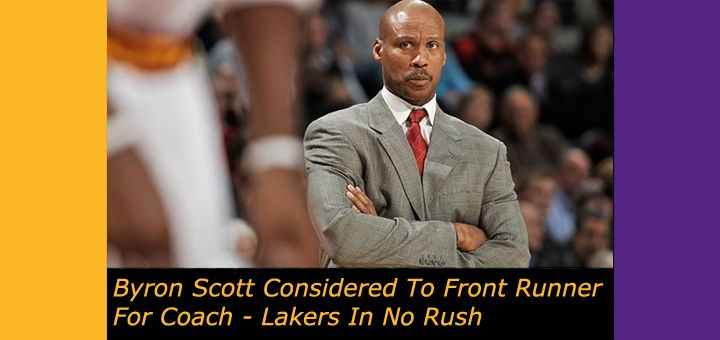 Lakers Interview Byron Scott 3 Times - Considered To Be Front Runner, But Lakers In No Rush.  http://www.lakers-trade-rumors.com/former-laker-byron-scott-front-runner-head-coaching-position-lakers-rush/  #Lakers #LakersRumors #ByronScott