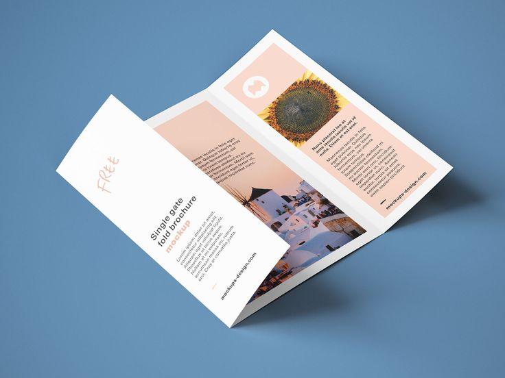 Free A4 Single Gate Fold Brochure Mockup Psd Set Good Mockups In 2021 Brochure Mockup Psd Mockup Psd Brochures Mockups